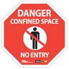 Danger confined spaces no entry sign
