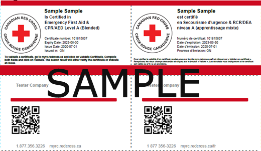 Canadian Red Cross - Emergency First Aid & CPR/AED Level A (Blended) ticket