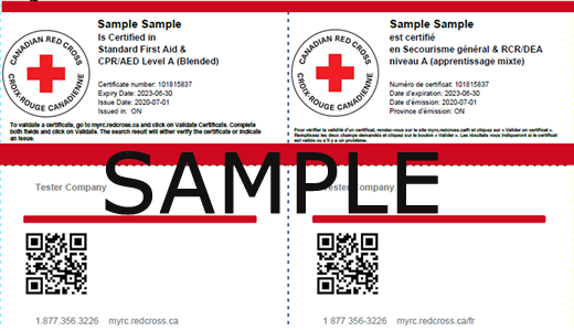 Canadian Red Cross - Standard First Aid & CPR/AED Level A (Blended) ticket