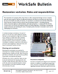 Restoration worksites: Roles and responsiblities