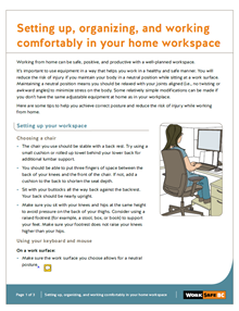 Setting up, organizing, and working comfortably in your home workspace
