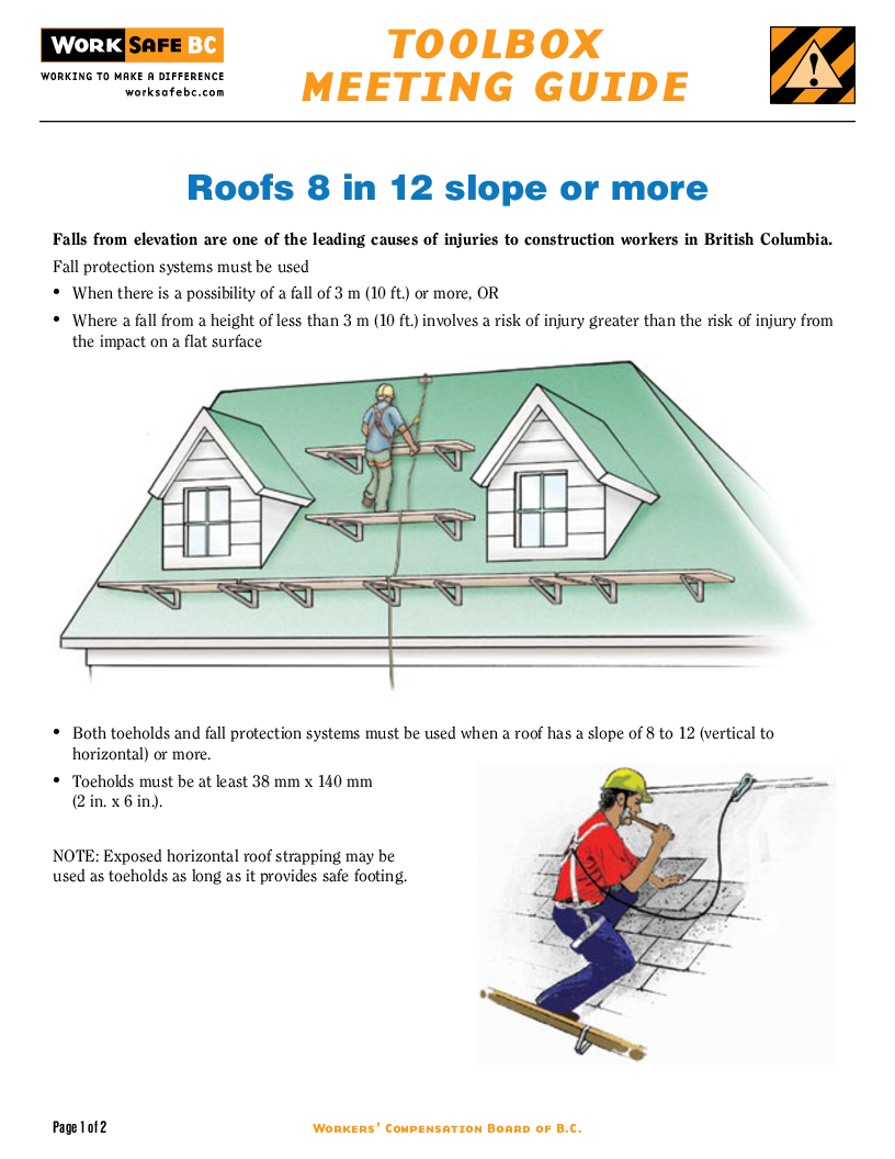 roofs 8 in 12 slope or more - Roof Slope