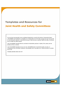 Joint health safety committees worksafebc for Health and safety committee meeting agenda template